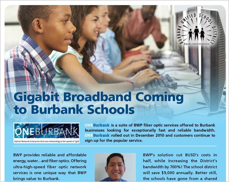 Gigabit Broadband Comes to BUSD