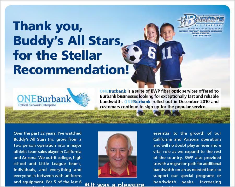 Buddy's All Stars Chooses ONEBurbank