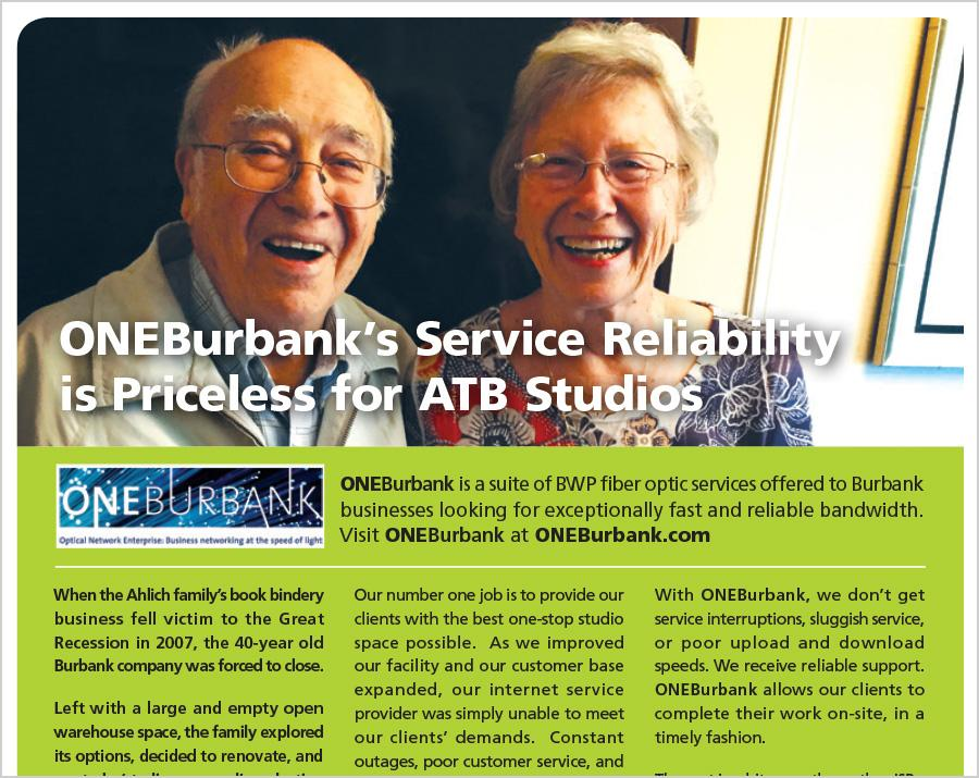 ONEBurbank's Reliability is Priceless for ATB Studios