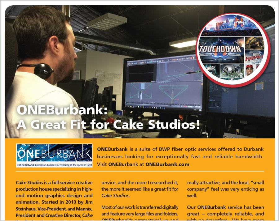 ONEBurbank Service is a Great Fit for Cake Studios!