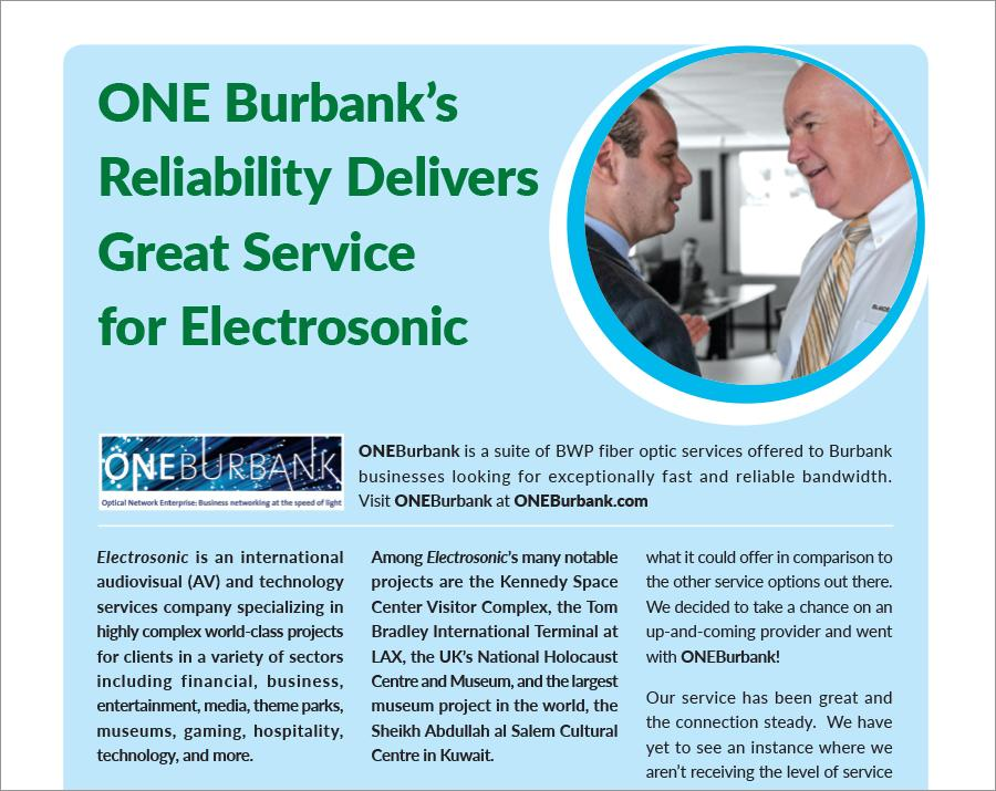 Reliability Delivering Great Service to Electrosonic