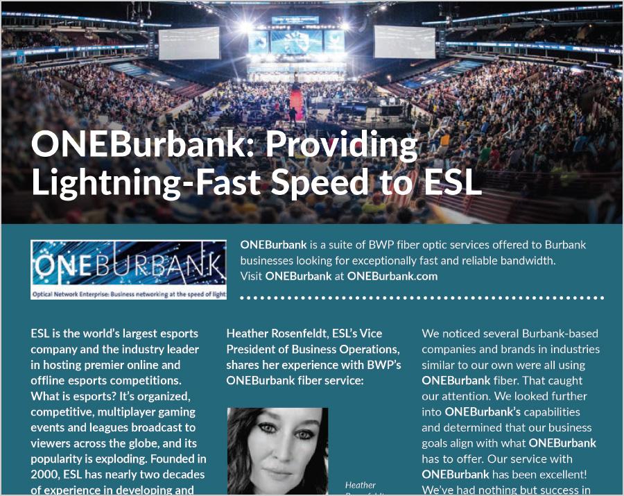 ONEBurbank: Providing Lightning-Fast Speed to ESL